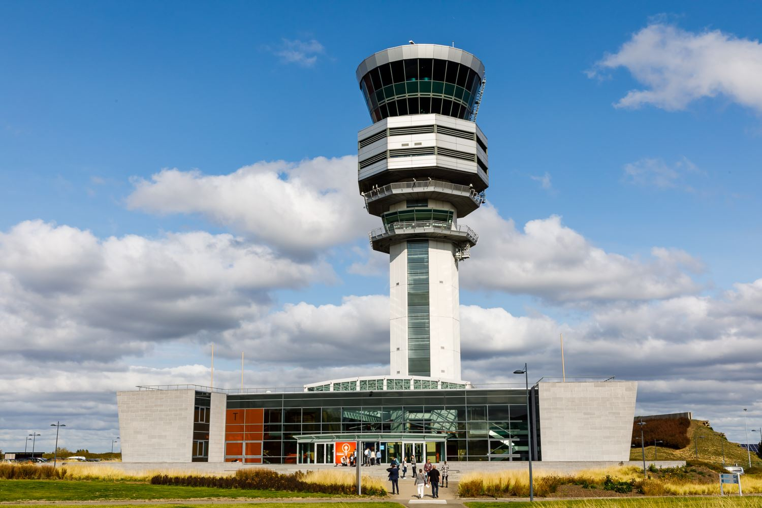The Brussels Airport control tower